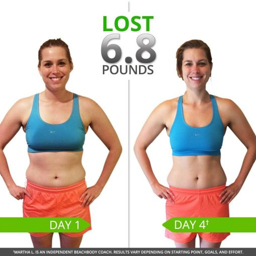 Shakeology with Beachbody 3 Day Refresh Before and After